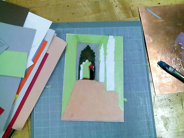 building a mat board collagraph plate