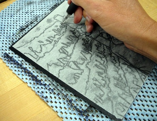 how to make a trace monotype