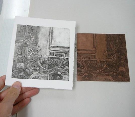 monotype ghost print
