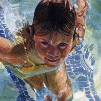 Watercolor: Mermaid Intern (and Beginning Watercolor)
