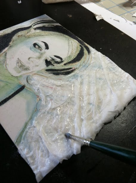 adding textures to a mat board collagraph plate