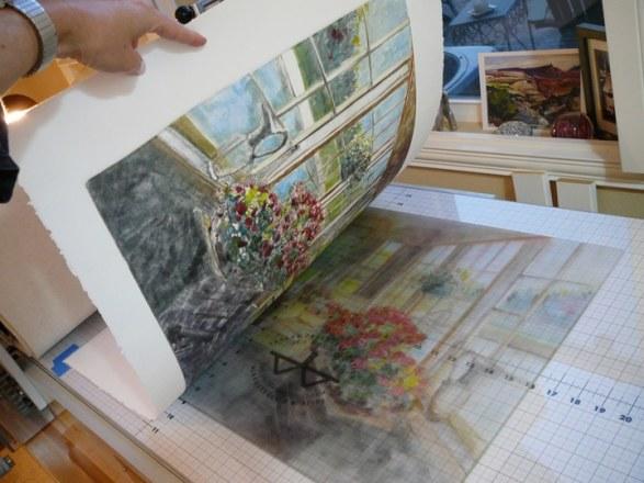 light field monotype printmaking