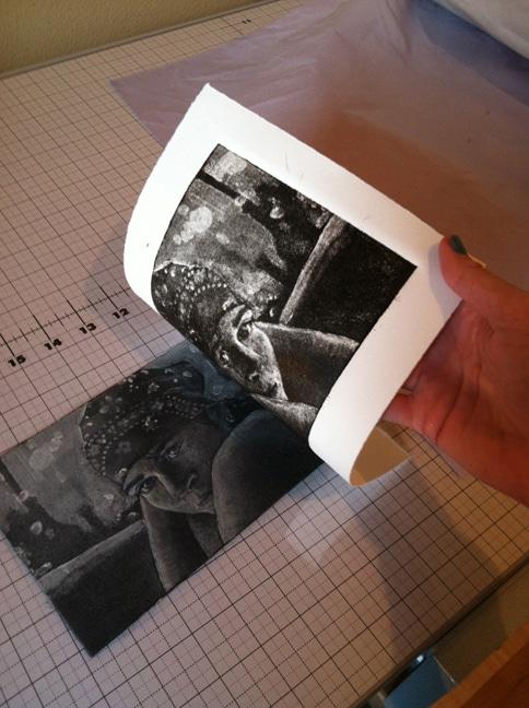 silk aquatint printmaking
