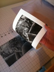 Making a Silk Aquatint from Plexiglass, polyester and acrylic gloss medium and paint