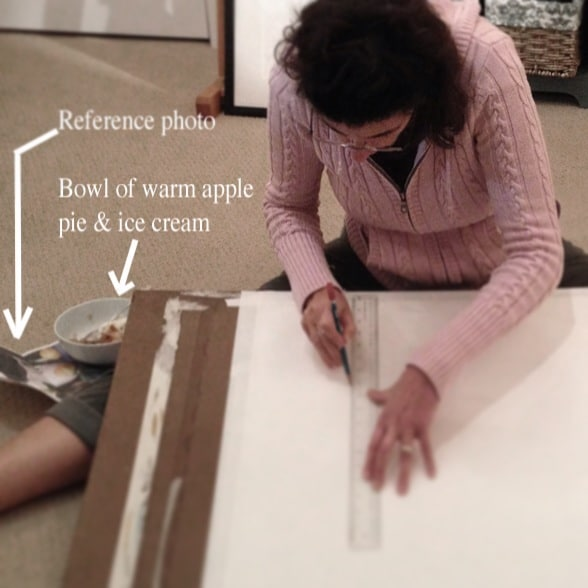 Using a Grid to lay in a drawing for a watercolor
