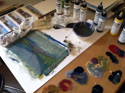 making a color monotype
