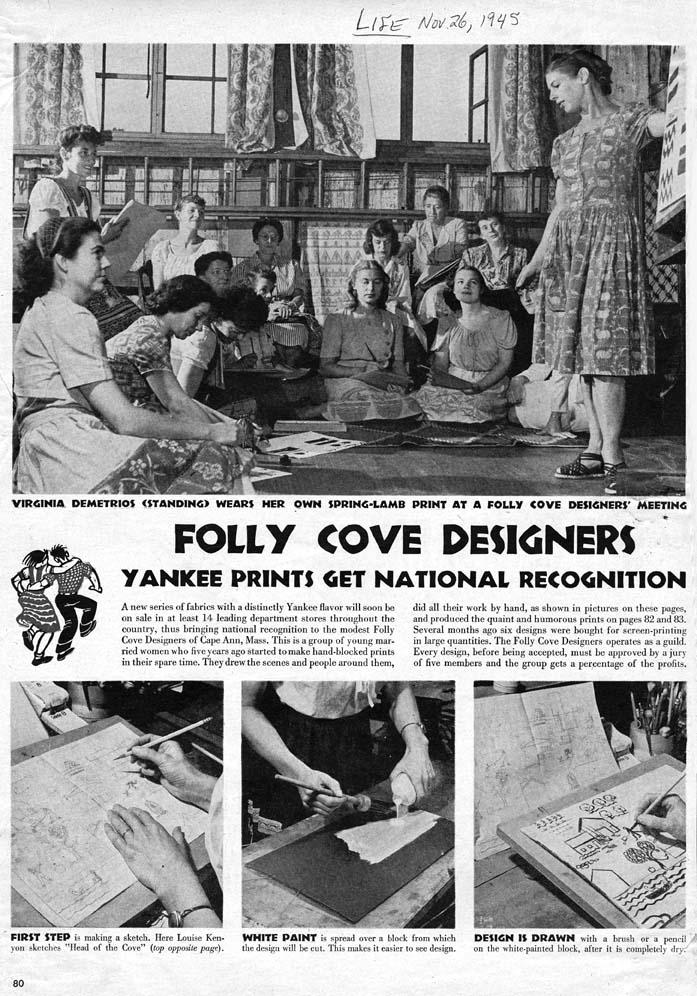 Folly Cove Designers block printing