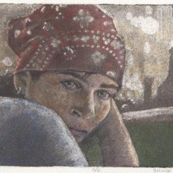 silk aquatint portrait