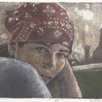 Silk Aquatint: Bandana