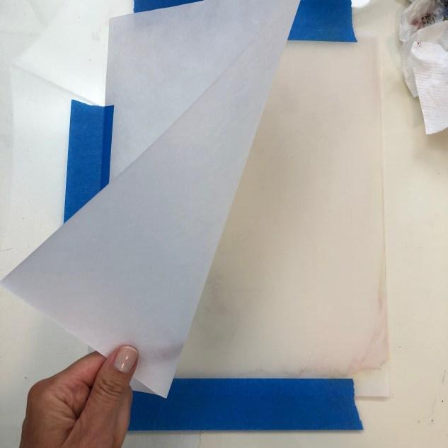 monotype printmaking set up