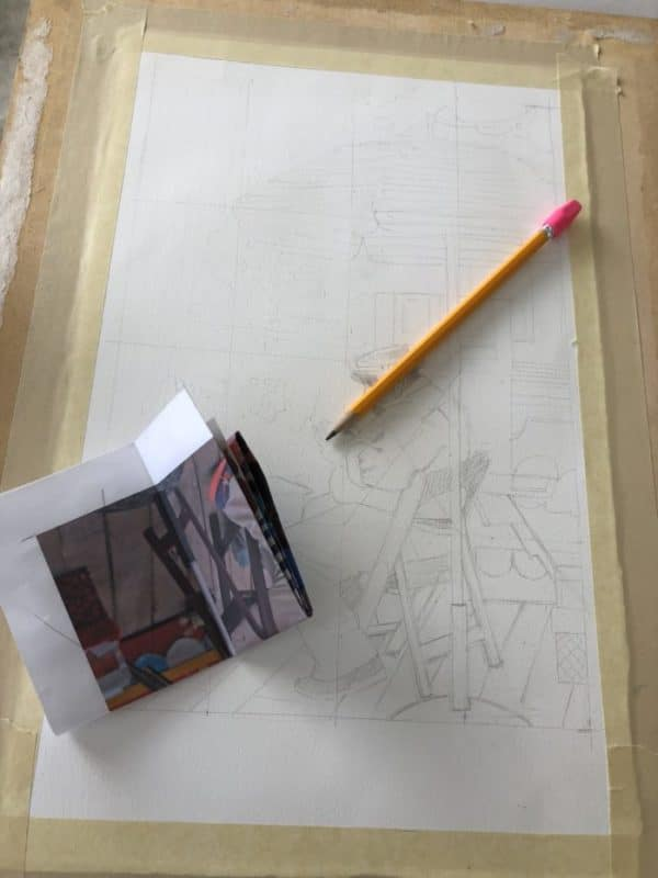 using the grid method to draw a picture