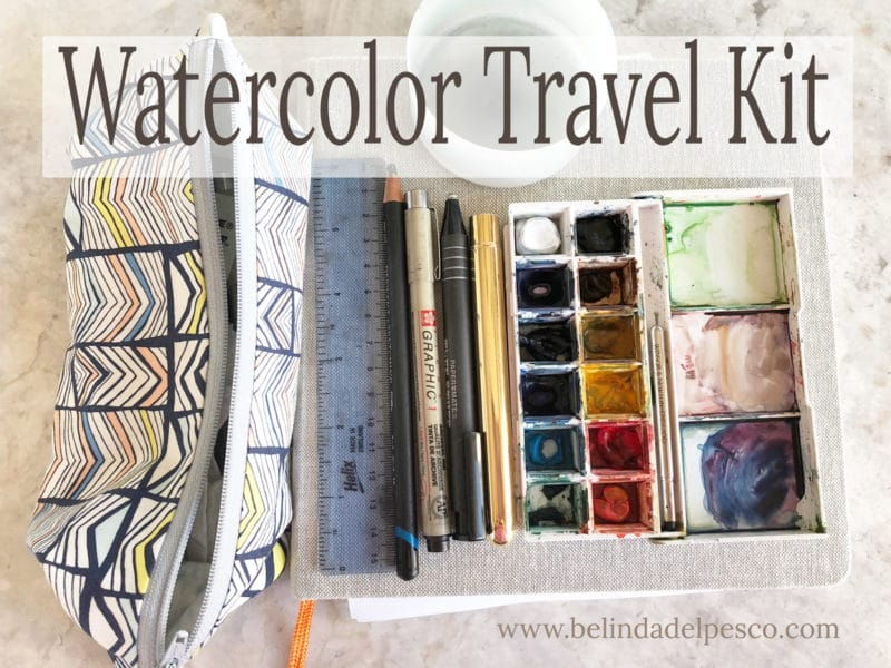 watercolor painting travel kit