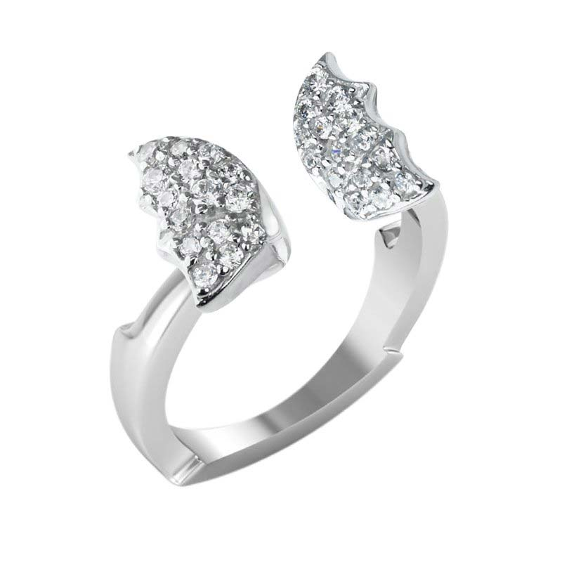 Charming and cute butterfly ring in Sterling set with White CZ
