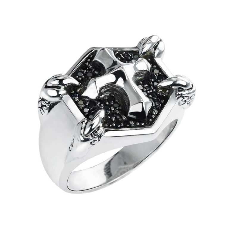 Men's ring featuring Cross in center
