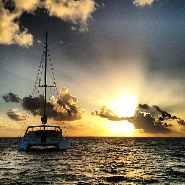 Sunset Sailing in Belize