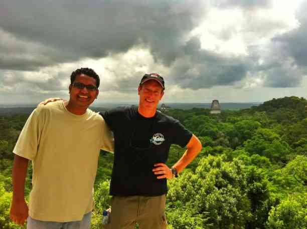 Tikal Guatemala, on top of the main temple