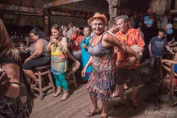 beach bar dancing in belize