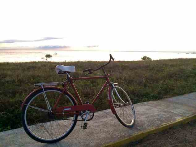 I biked to Playa Ancon in Cuba