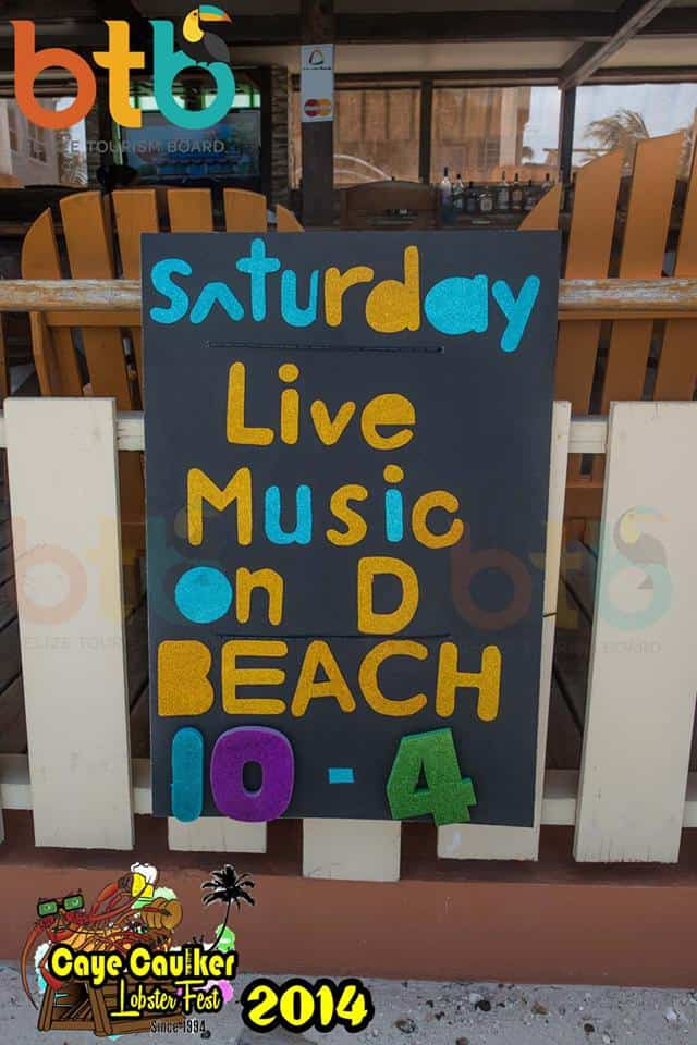 live music on the beach, belize