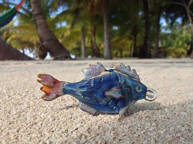 Glass fish by Belizean artist Inga Woods