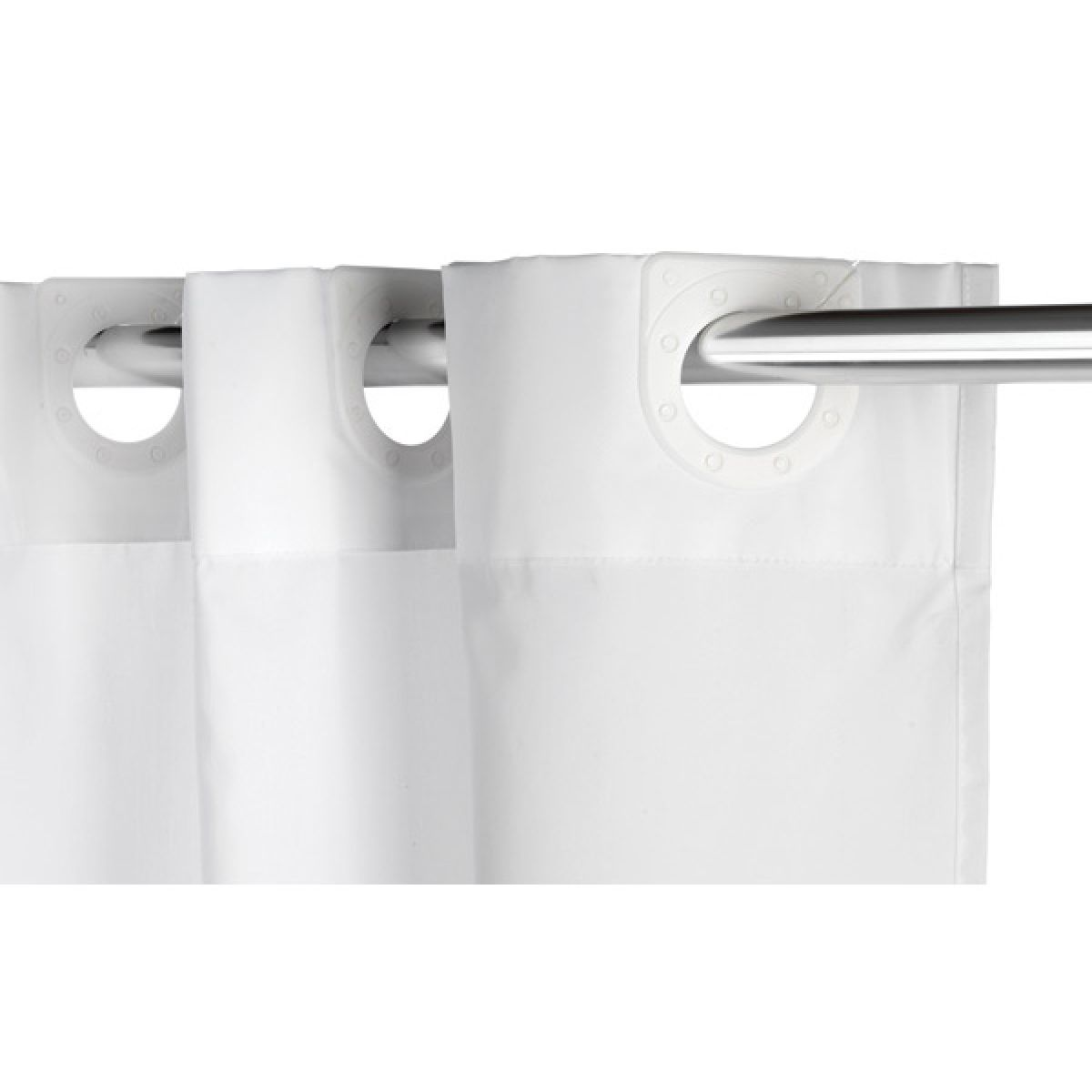 croydex textile white hookless shower curtain