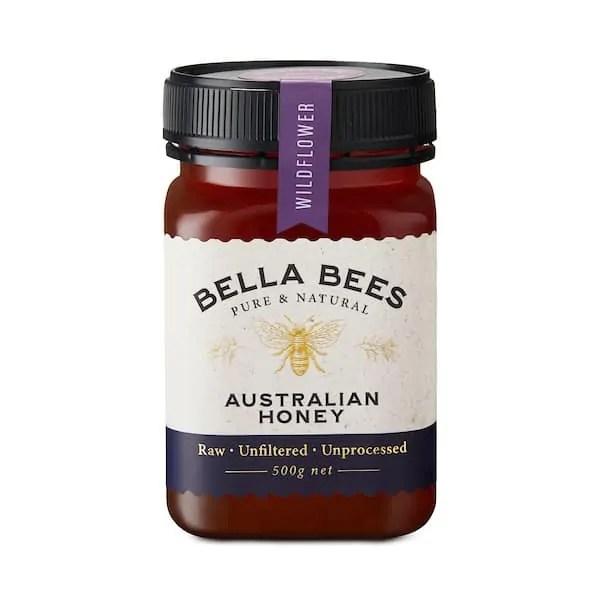 Bella Bees Wildflower Honey 500g SKU AABBH10001