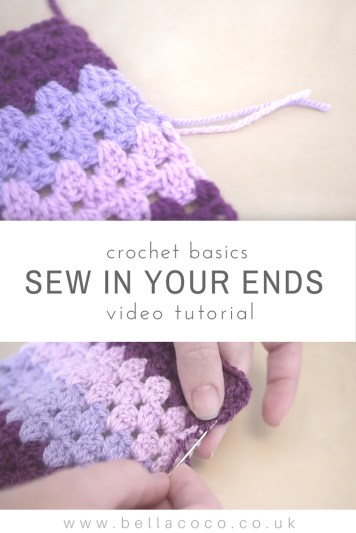 Sewing in your ends