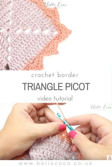 Triangle picot border