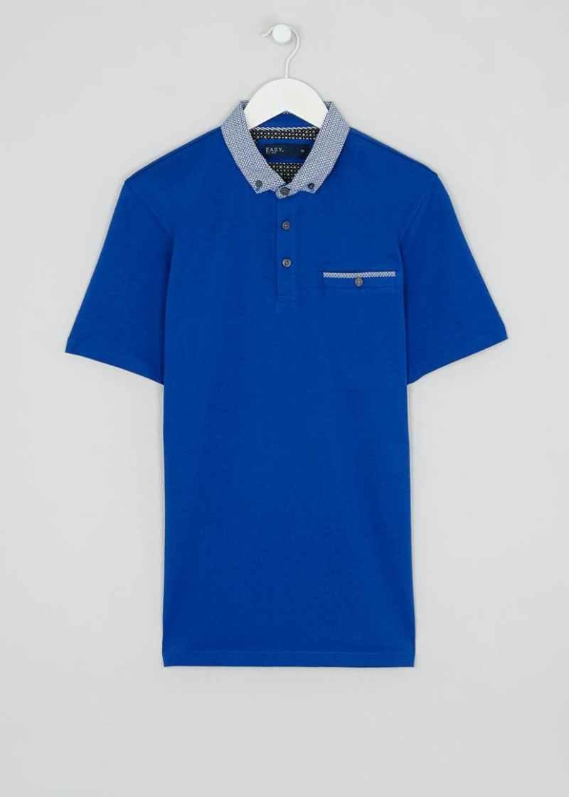 Cobalt Blue Smart Polo Shirt