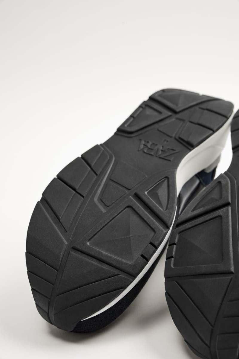 Zara Contrast Navy Blue Sneakers