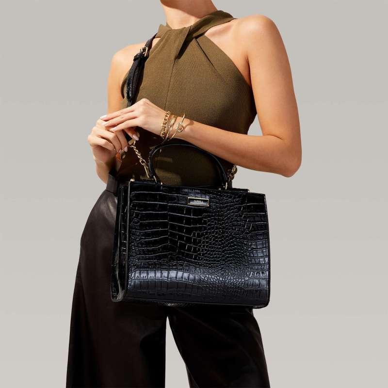 Carvela Jessica Croc Tote bag - Black