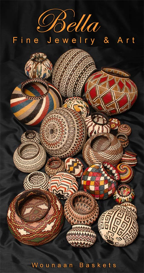 a grouping of 20 woven baskets