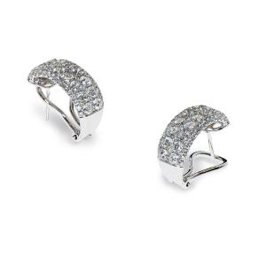 White gold earrings with round diamonds