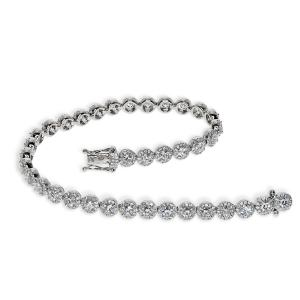 A white gold and diamond bracelet