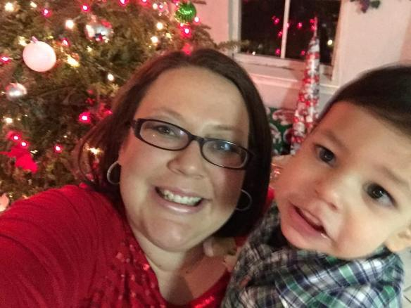 Jacob and his wonderful momma, Kayla, on Christmas Day 2015.