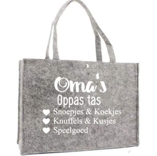 Bella kids gepersonaliseerde cadeau's Home - Oma's oppas tas - Boodschappen tas - Shopper