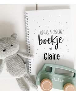 Oppasboek met naam - Invulboek - Creche boekje - Kraamcadeau - Naam cadeau - geboorte cadeau - gepersonaliseerd cadeau