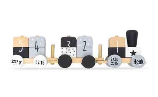 Jollein trein gepersonaliseerd gepersonaliseerd speelgoed, jollein met naam , Kraamcadeau, Naamcadeau,Geboorte cadeau , Naam cadeau , Naam kado