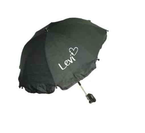 Kinderwagen parasol met naam