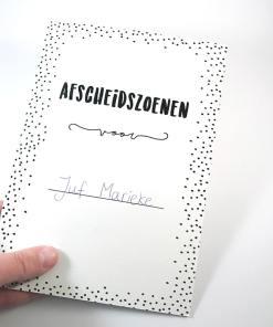 Afscheidszoenen kaart - Cadeau juf of meester - Einde schooljaar cadeau - Cadeau juf of meester - juffendag cadeau - Cadeau