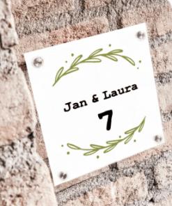 Huisnummer/Naamborden