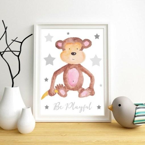 Canvas posters dieren - kinderkamer decoratie,Kinderkamer decoratie - Dieren schilderijen - Baby Kamer accessoires - Canvas baby kamer