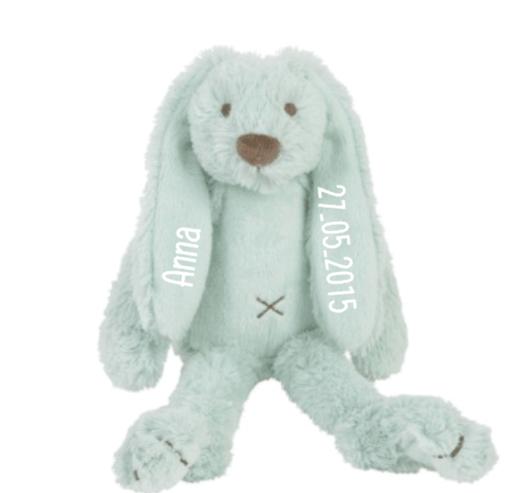 Tiny Lagoon Rabbit Richie - Met naam - Happy Horse- Gepersonaliseerd kraamcadeau - Geboorte cadeau met naam - Naam cadeau