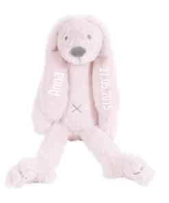 Tiny Pink Rabbit Richie - Met naam - Happy Horse - Gepersonaliseerd kraamcadeau - Geboorte cadeau met naam - Naam cadeau - Gepersonaliseerd