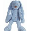 Tiny Deep Blue Rabbit Richie - Met naam - Happy Horse - Gepersonaliseerd kraamcadeau - Geboorte cadeau met naam - Naam cadeau