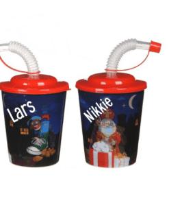 Traktatie bekers Sinterklaas - met naam- Trakteren op school - Traktaties - Traktatie beker - Hippe traktaties - Sinterklaas