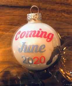 Gepersonaliseerd kerstbal - Zwangerschap aankondiging - kerstcadeau met naam - Kerstbal met naam - Kraamcadeau - Geboorte cadeau