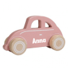 Little Dutch - Wild flowers - Roze auto - Met naam- Kraamcadeau met naam - Naam cadeau - Geboorte cadeau - Gepersonaiseerd cadeau