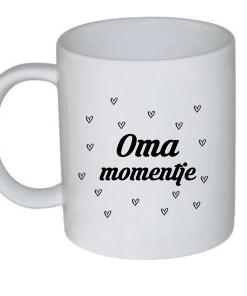 Oma momentje - Koffie mok - Thee mok - Cadeau voor mama - Mama cadeau - Moederdag cadeau - Koffiemok - Gepersonaliseerd - Vaderdag cadeau