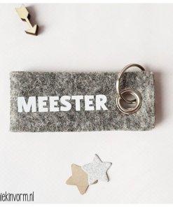 Sleutelhanger || meester || einde schooljaar cadeau - Sleutelhanger - einde schooljaar cadeau - cadeau voor de meester